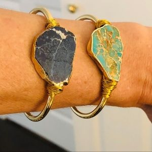 Raw Jasper Sea Sediment 14K Gold Bracelet